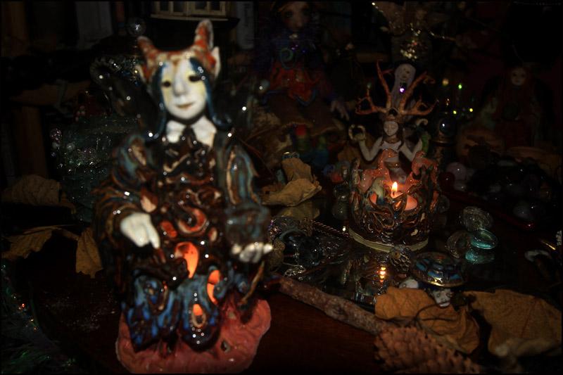 Goblin with tealight inside