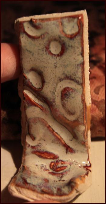 Spectrum Cinnamon Ripple over Potter's Choice Deep Firebrick